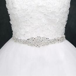Argentina Fajas de boda baratas para novias Bodas nupciales Vestidos Cinturones Rhinestone Cintas de cinta de cristal en stock Proveedor de fábrica supplier dress sashes ribbons Suministro