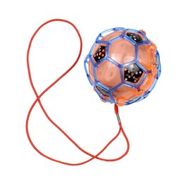 Wholesale kids jump ball - 2018 New LED Light Jumping Ball Kids Crazy Music Football Children's Funny Toy
