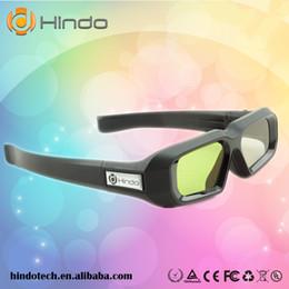 Dlp proiettore marche online-Occhiali 3D con otturatore attivo DLP link ricaricabile 2PCS per tutti i proiettori 3D pronti per dlp link, vari marchi proiettore