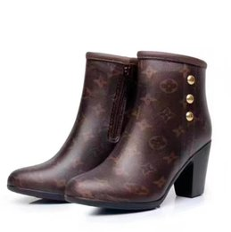 Discount working animals - Fashion New classic old flower ankle boots Women Riding Rain Boot BOOTS BOOTIES SNEAKERS Dress Shoes