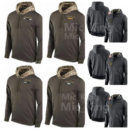 Wholesale H Cotton - Men's Women Youth Oakland #Raider #Pittsburg h#Steeler Philadelphia #Eagle New York Jet alute to Service Sideline Therma Pullover Hoodie