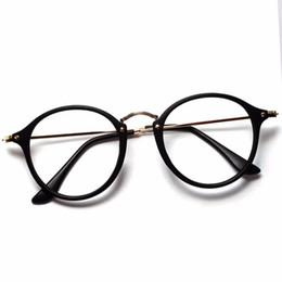 quadros de óculos redondos atacado Desconto Atacado Mulheres Homens Do Vintage Rodada Armações de Óculos Retro Óculos Ópticos Óculos de Armação Óculos de Proteção Oculos frete grátis
