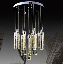 Wholesale Luxury Chandeliers For Dining Rooms - Luxury Modern Bubbles Crystal Chandelier For Dining Room 13 Lights Living Room Hanging Crystal Lighting Fixture LED Lustres LLFA