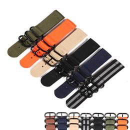 2019 bracelets zoulous Boucle noire 20mm 22mm 24mm Strong Cheap tissu nato Montre en nylon Hommes Woven Strap Band Zulu ceinture bracelets bracelets zoulous pas cher