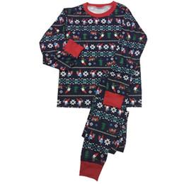 60ee59e2c7 SHUJIN Pijamas de Navidad de Los Hombres de Moda de Impresión Para Hombre  de Dos Piezas Ropa de Dormir Otoño Manga Larga ONeck Tops Pantalones Traje  Pijamas