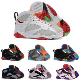 Wholesale women winter sports sweaters - High Quality 7s Basketball Shoes 7 White Metallic Silver Bordeaux Bull Red Black White Chicago Sweater Men Women Sneakers Sports Shoes