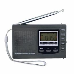 Wholesale Portable Search - Pocket Radio 9K Portable DSP FM   MW   SW Receiver Emergency Radio Digital Alarm Clock Automatic Search Station Y4408H