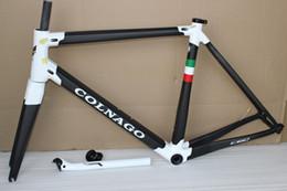 Cuadro de fibra de bicicleta de carretera online-Colnago C60 T1000 marco de bicicleta de carretera con fibra de carbono completo marco de bicicleta de carbono BB386 tamaño XXS XS S M L XL acabado brillante mate