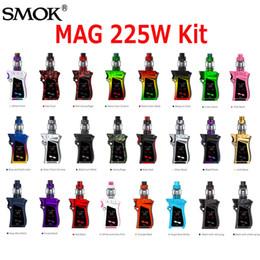 Wholesale Smok Kits - Original SMOK MAG Starter Kits 225W TC Box Mod With 8Ml TFV12 Prince Tank Atomizer Coil Kit 9 Colors 100% Authentic SmokTech