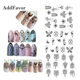 Collier de dentelle bricolage en Ligne-Addfavor 3 pcs Black Lace Nail Sticker Collier Conception de bijoux Nail Art Stickers Stickers DIY Décoration Manucure Outils
