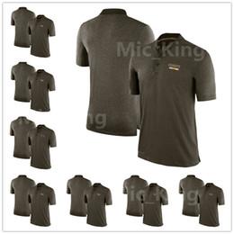 Wholesale City Los Angeles - Men's Women Kid Kansas City Los Angeles Miami Minnesota New England New Orleans New York Oakland Salute to Service Sideline Olive Polo Shirt