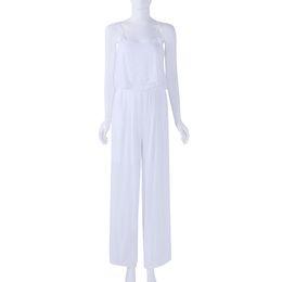 Wholesale Sling Pants - Women Jumpsuit Casual Bodysuit Summer Sling Romper Overalls Loose Pants Long Beach Boho High Waist Playsuits Plus Size