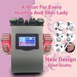 Wholesale Liposuction Equipment - High Quality New Model 40k Ultrasonic liposuction Cavitation 8 Pads LLLT lipo Laser Slimming Machine Vacuum RF Skin Care Salon Spa Equipment