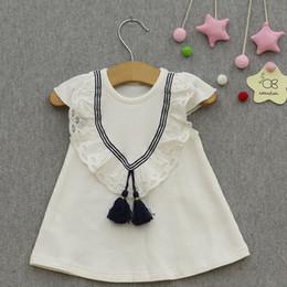 rosa babykleid monate Rabatt Kinderbekleidung Sommer Baby Kleid 2018 Neue Prinzessin Kleid Baby Mädchen Kleid 6-30 Monate Rosa