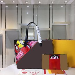 Wholesale Small Mother Bag - Top Layer flower Pattern Calfskin Crossbody Mother Bags Famous Brand Genuine Leather Women Handbags Shoulder Messenger Bags totes M43499