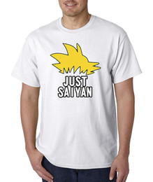 crew hair Australia - Custom Tee Shirts Zomer Unisex T-Shirt Just Saiyan Sayin DBZ Hair Super Dragon Ball O-Neck Short-Sleeve T Shirts For Men