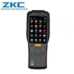 oem ccd Desconto Leitura handheld áspera do código de barras do apoio de Android PDA da tela grande e impressão térmica