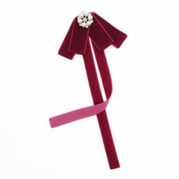 Estilos de corbata de lazo de las señoras online-Alta calidad School Style Girls Bowtie Pure Lady Dress Tie Collar Mujeres Multi Style terciopelo preal Bow Ties Accesorios de mujer