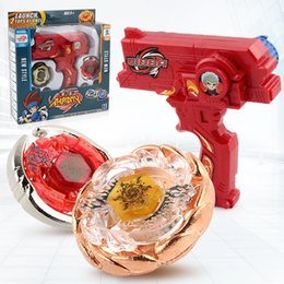 Wholesale beyblade metal fight launcher - Beyblade 3010 Rapidity Top Fighting Gyro Starter Set with Launcher 2 Tops At Once Defense Attach Beyblades Toys for Kids B