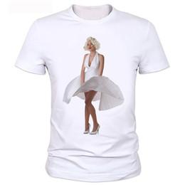 мэрилин монро сексуальная живопись Скидка Sexy Marilyn Monroe Печатный Футболка Для Женщин С Коротким Рукавом Повседневная Окрашенная Белая Рубашка Топ Футболка Большой Размер топы Мода Стиль Мужчины Футболка