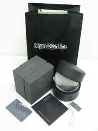 Wholesale Bags Watches - Hight Quality Luxury Brand TAGBOX Gray Leather Watch Box Wholesale Mens Womens Watches Original Box With Certificate Card Gift Paper Bags