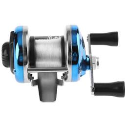 синий оттенок Скидка 3.0: 1 Металлическая Приманка Литье Спиннинг Рыболовная Катушка Лодка Подледная Рыбалка Колесо Синий