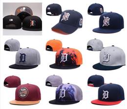Wholesale cheap black top hats - Wholesale Top Quality Tigers Snapback Hats Gorras Embroidered Letter Team Logo Brands Hip Hop Cheap Sports Baseball Adjustable Caps Bones