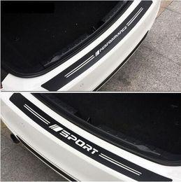 2019 adesivi gtr Nuovo 5D In Fibra di Carbonio Auto Paraurti Posteriore Tronco Copertura Trim Guard Piatto Decal Sticker Per bmw e39 e46 e30 f10 f10 f01 f20 X1 Z4 M3 M5