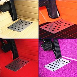 Canada Tapis de tapis de tapis de plancher de plancher de pied antidérapant de voiture en aluminium universel de voiture Pad DIY Fit s'habiller Footpad Tapis de repos de pied 22 * 15 CM supplier sheet dresses Offre