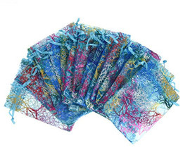 Wholesale Virgin Paper Bag - Hot sale coral pattern gift Yarn bag Beam Port Gauze Bag Ornament Packing bag household supplies T3I0037
