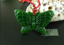 Grüne Jade Schmetterling Anhänger Halskette Charme Schmuck Mode-Accessoires von Fabrikanten