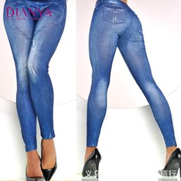 Wholesale Graffiti Legging - Wholesale- New Fashion Women Slim Jeans Leggings European And American Fashion Seamless Graffiti Printed Legging Womne Sexy Pencil Pants