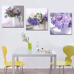 2019 billige kunstfarbe Dekoration Wohnzimmer Wandbild Leinwand Malerei Drucken Cuadros Lila Orchidee Blumen Kunst Günstige Bild günstig billige kunstfarbe