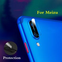 Objectifs de caméra de film en Ligne-Retour Caméra Arrière Autocollant De Protection Pour Meizu 16 plus Caméra En Verre Trempé Film Verre Protecteur Lunettes 16plus arrière gass HD 2.5d