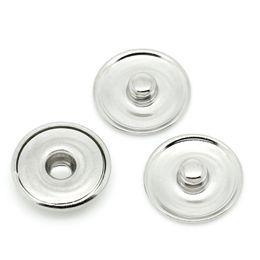 50 Adet / grup Snap Düğmesi Baz Düz Aksesuarlar DIY Popper 18mm Zencefil Çırpıda Takılar Ücretsiz Nakliye OEM, ODM nereden pc oem tedarikçiler