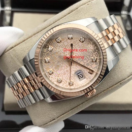Wholesale watch couple rose gold - 2 Styles Top Quqlity Women Men couple Wristwatches 36mm 116231 Jubilee Diamond Black Pink Dial Rose Gold SS Stainless Steel bracelet Watches