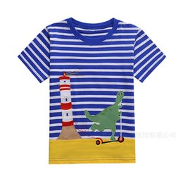 Wholesale New Fashion For Boys Clothing - Boy T-Shirt 2018 New Summer Baby Boys Animal Appliques Short Sleeves Children Clothing T-Shirt For Baby Boys
