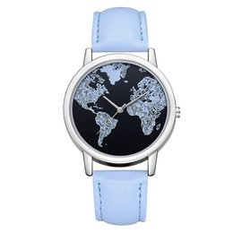 marcas de moda rápida Desconto Mulheres de moda de Luxo Assista Marca Mapa do Mundo Montre Femme Senhoras Relógios Analógicos de Quartzo Relógio de Pulso Presentes Relógio Transporte Rápido