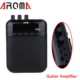 Wholesale Amplifier Amp - Aroma AG-03M 5W Guitar Amp Recorder Speaker TF Card Slot Compact Portable Multifunction