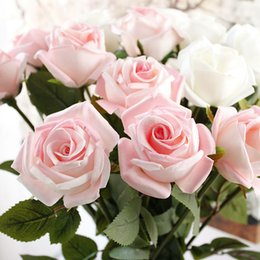 Wholesale artificial diamond flowers - PU Diamond Artificial flowers for decoration For high-grade vivid fake flowers 72cm high in rose Home