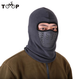 Gesichtsmaske schal kapuze online-Radfahren Winter Fleece Warm Full Face Cover Anti-Staub winddicht Ski Maske Snowboard Hood Anti-Staub-Bike Thermal Balaclavas Schal