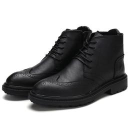 2b818ecfe5f6f8 travail de mode hommes occidentaux bottes marque de luxe hiver chaussures  hommes chauds designer italien haut brogue oxford chaussures pour hommes