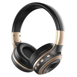 Kopfhörer sd steckplatz online-2018 ZEALOT B19 Bluetooth-Kopfhörer Kabelloser Stereo-Kopfhörer mit Mikrofon-Kopfhörern Micro-SD-Kartensteckplatz FM-Radio Für Telefon-PC