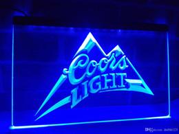 Wholesale Coors Beer Lighted Signs - LA004b- Coors Light Beer Bar Pub Logo LED Neon Light Sign