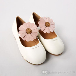 Wholesale Baby Casual Shoes High - 2018 spring new style 2 colors high quality soft PU leather baby Casual shoes cute flower shoes princess shoes 1-5T free shipping