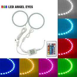 2019 télécommandes volvo Kit d'éclairage de voiture RGB Multi-couleur LED Angel Eyes Halo Ring Télécommande sans fil pour Volvo C30 2008 # 2635 télécommandes volvo pas cher