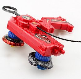 Wholesale Wholesale Metal Spinning Top - wholesale 3piece Beyblade Duotron Master Launcher for Double Bey Metal Spinning Tops, 3 colors Available
