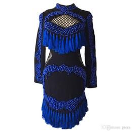 High-end in stile europeo Fashion 2018 Designer Runway Dress manica lunga  da donna lussuoso fatto a mano perline Tassel sexy tubino economico abiti  da ... 4149373f97d