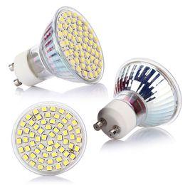 Wholesale office spot lights - GU10 60 LED 3528 SMD 5W Pure White 6500K Long Service Life Spot Light Bulb Lamp AC 220V For Office Exhibition Home