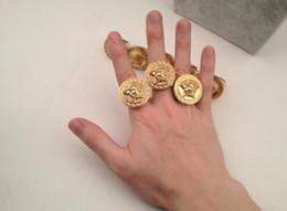 Wholesale Ring Hip - 2018 Mens Ring Fashion Hip Pop Medusa Head Gold Silver Color Black Male Finger Ring For Men Women Size 8-11